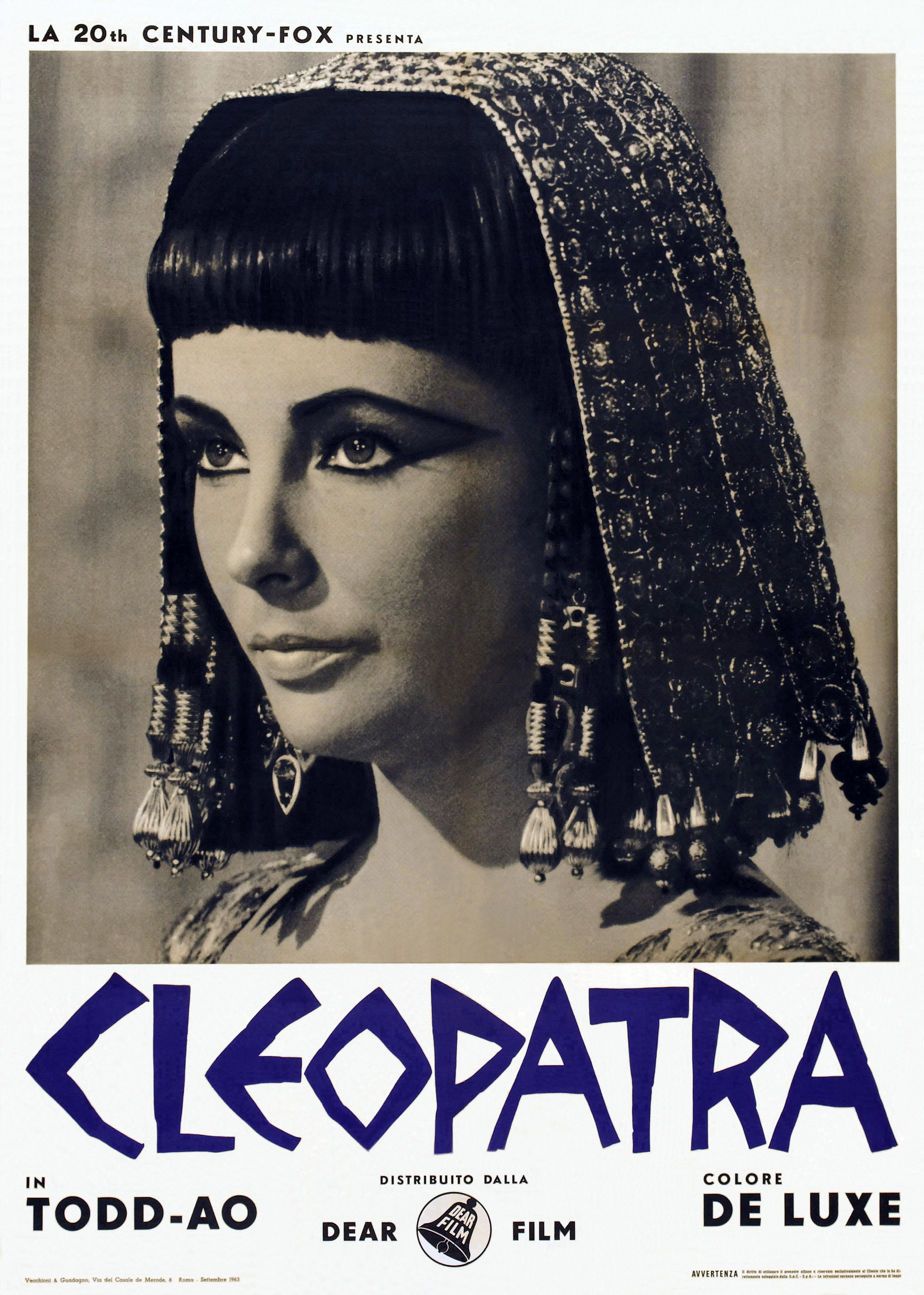 cleopatra the movie Directed by joseph l mankiewicz with elizabeth taylor, richard burton, rex harrison, pamela brown queen cleopatra of egypt experiences both triumph and tragedy as.