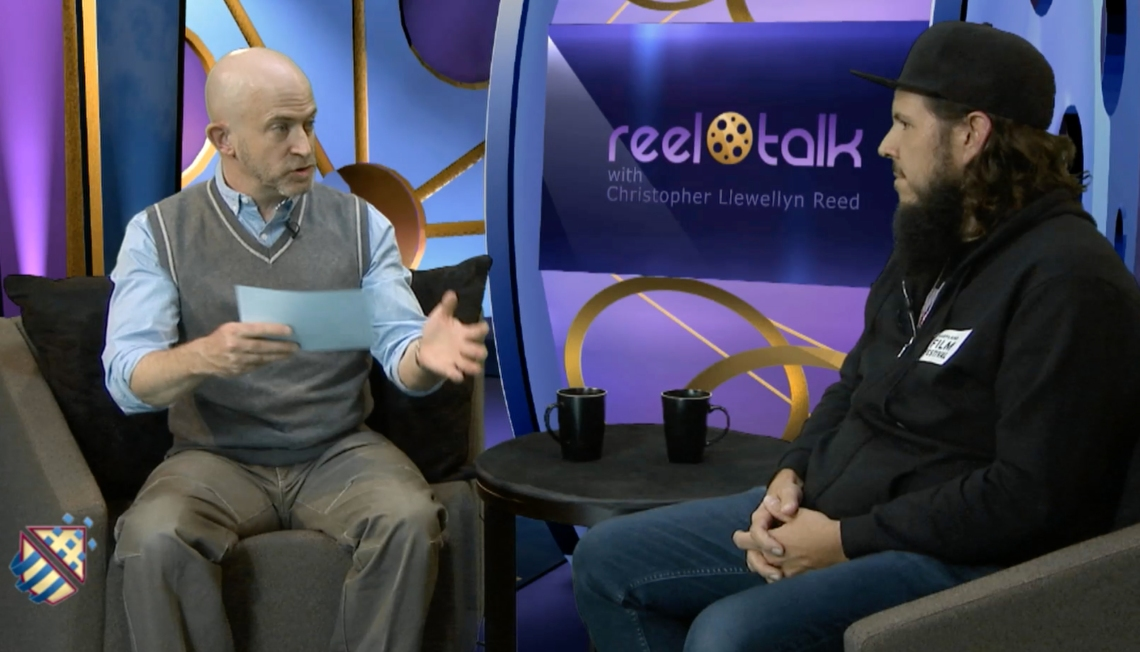 "Christopher Llewellyn Reed, ""Reel Talk"" host, w/ Scott Braid, Associate Director at the Maryland Film Festival"